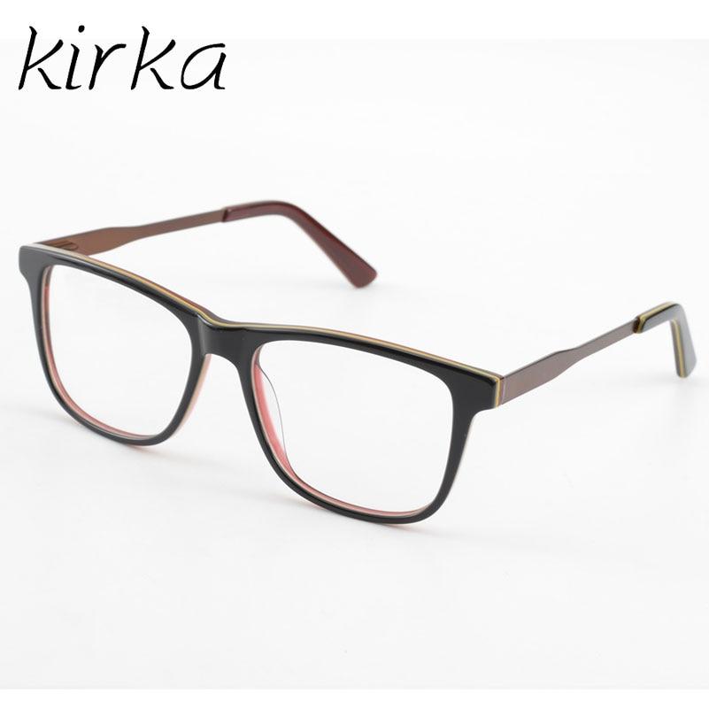 Kirka Nice Design Brown Men Acetate Fasion Eyeglasses Frame Male ...