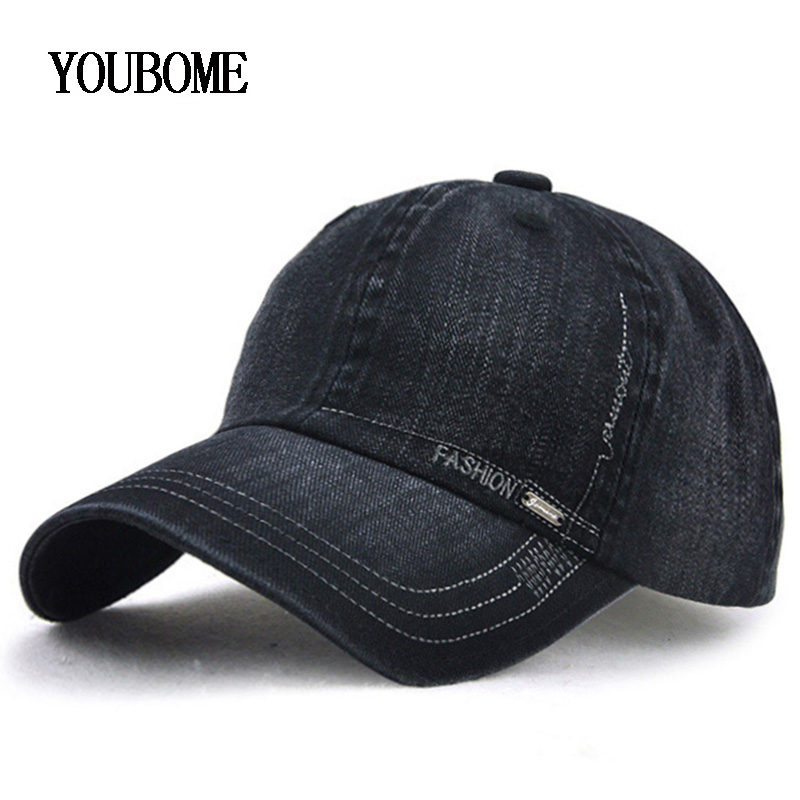 YOUBOME Fashion Brand Men   Baseball     Cap   Women Hats For Men Fitted Denim Jeans Snapback   Caps   Casual Casquette Bone Dad Hat   Caps