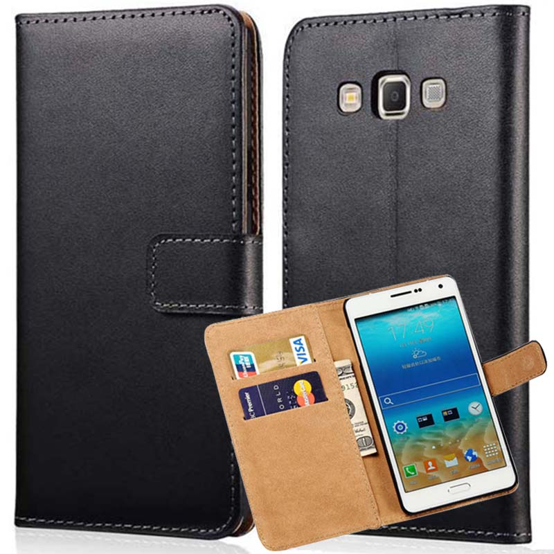 wholesale dealer 692ca 7f0db US $1.79 10% OFF|Leather Case For Samsung Galaxy A7 2016 A8 2015 J3 2016  Ace 4 Lite Grand Neo Wallet Style Mobile Phone Bags Cases Cover -in Wallet  ...