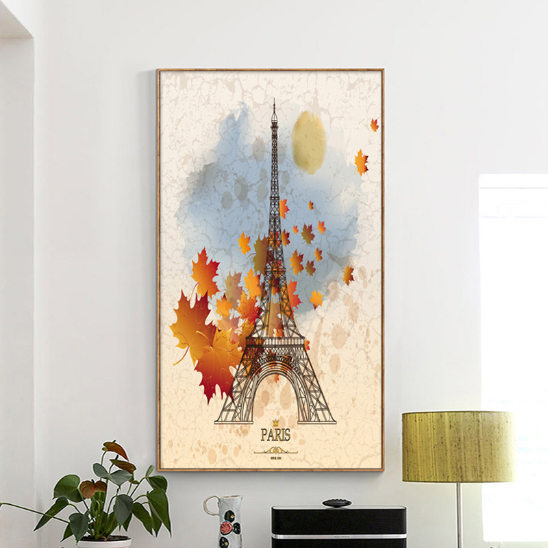 Paris Eiffel Tower Picture Landscape Full Diamond Painting Modern Simple Style Handwork Mosaic DIY Embroidery Diamond Paintings