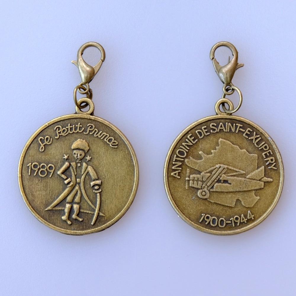 Charm Notebook-Accessories Pendant Little-Prince Metal Diary Bronze DIY Traveler Vintage