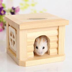Pet hamster wooden house hut small animal rabbit mouse hideout cage gerbil chalet mice room nest.jpg 250x250