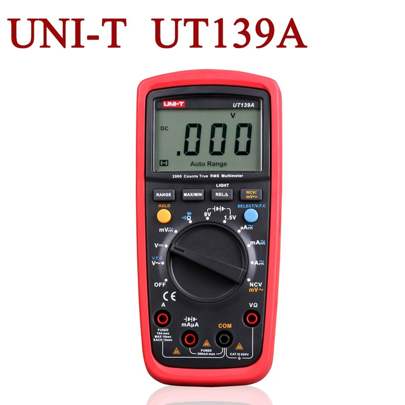 uni-t True RMS Digital Multimeter Auto Range AC/DC Amp/Volts Ohm Tester with Data Hold, NCV,and Battery  transistor tools