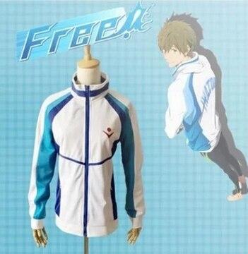 Free shipping Iwatobi Swim Club Haruka Nanase  Jacket costume