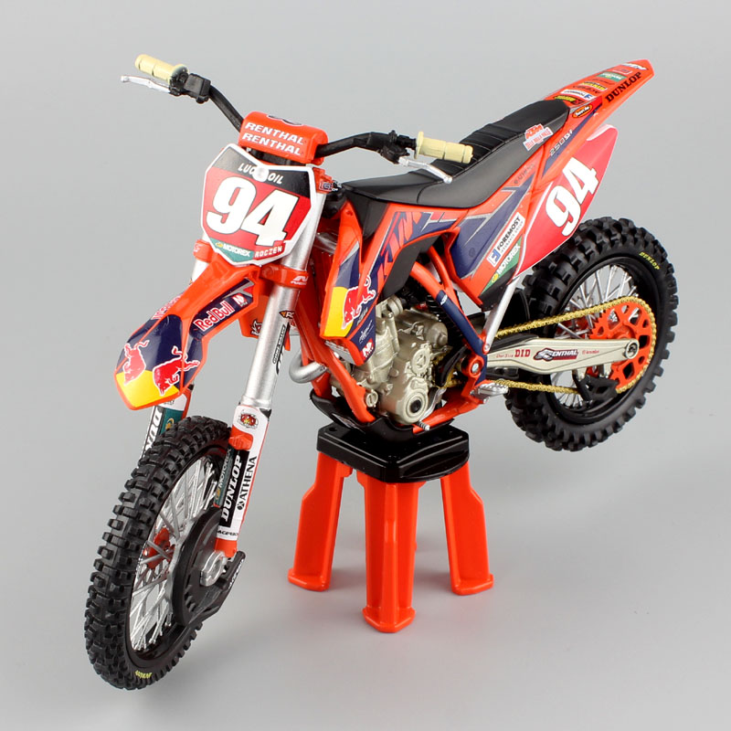 1 12 Scale  KTM 250 SX-F Racer No.94 KEN ROCZEN AMA Supercross Motocross Enduro Dirt Bike Motorcycle Moto Diecast Model Toy Kids