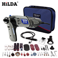 HILDA 220 В 180 Вт <font><b>Dremel</b></font> стиль Электрический Роторный электроинструмент Мини дрель с гибким валом 133 шт. аксессуары набор сумка для хранения