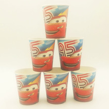 10pcs/set  Car Cup Cartoon Theme Party For Children/Boys Happy Birthday Decoration Supply Festival Supplies