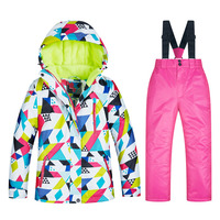2018 Girls Ski Suits Waterproof Warm Winter Outdoor Sport Jacket Skiing And Snowboarding Suit Snow Jacket For Children Brands