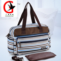 Striped fashion multi-function Mummy Bag  Maternity Handbag Stroller Bag Baby Changing Nappy Diaper Bag YXL-8009
