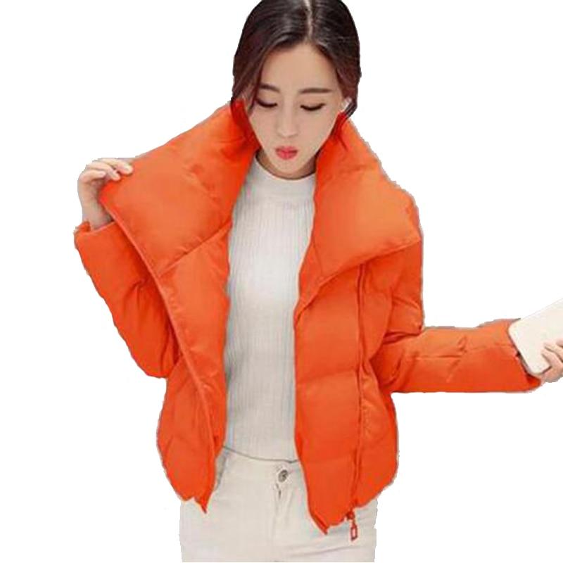 Hiver blue Coton Courte Vers Vestes 2016 Orange rembourré Couleur black G204 New Surdimensionné Taille La Coton Veste pink Élégant Femmes Le Pur Bas Plus De pSUx5AqU