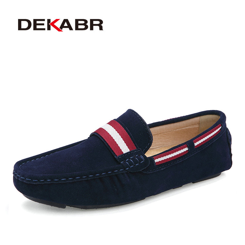 DEKABR Genuine Leather Men Shoes Fashion Driving Shoes Mocassin Soft Breathable Men Flats Brand Loafers Men Casual Shoes 2016 new style summer casual men shoes top brand fashion breathable flats nice leather soft shoes for men hot selling driving