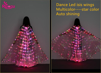 Ruoru Star Multicolor Led Isis Wings With Holding Sticks Belly Dance Stage Performance Club Light Up