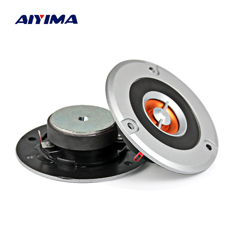 Aiyma 2 Stücke Audio Hochtöner Lautsprecher 3 Zoll Großen Magneten KTV Hochtöner HIFI New Hochtöner Lautsprecher 4 Ohm 20 Watt