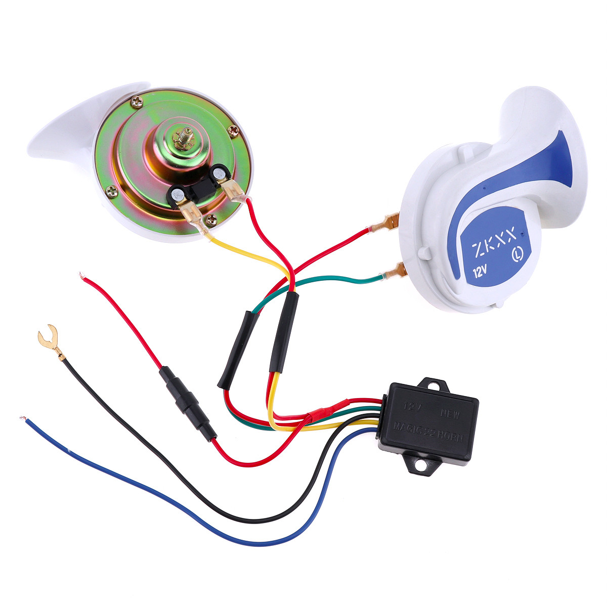 12v 150db Loud Classical Snail Shaped Horn Auto Car Speaker Tone Siren Police Circuit V8 360 Degree Radar Detectors For Fixed Voice Alarm Speed Control Safety Vehicle