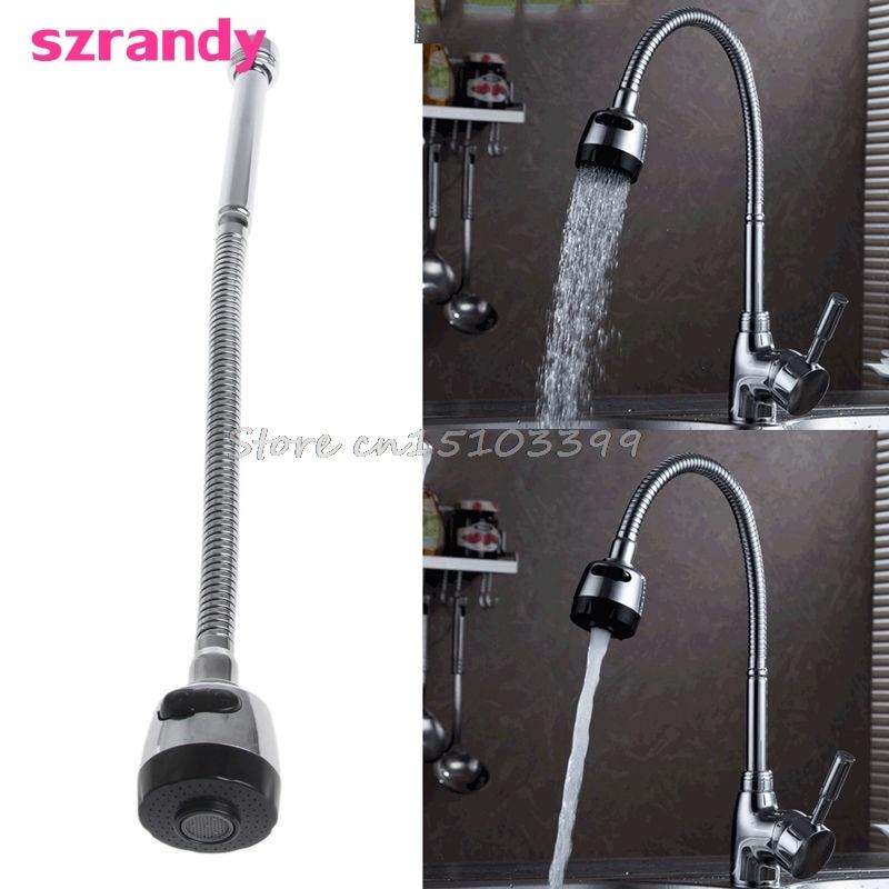 Kitchen Bar Faucet Hose Double Hole Water Zinc Alloy Replacement Tap 48cm G205M Best Quality