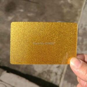 Image 4 - Высококачественная блестящая металлическая золотистая пластиковая Визитная карточка, индивидуальная печать 100 карт в дизайн