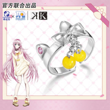 Project K Anime Ring Silver 925 Sterling Cartoon Character Cosplay Suoh Mikoto Neko Model Figure Fashion Jewelry