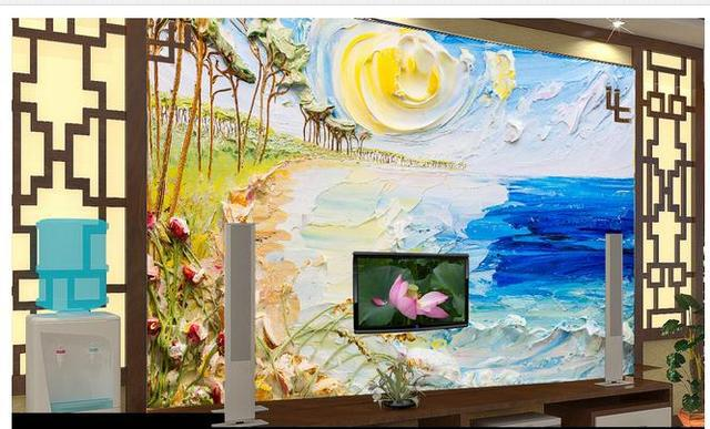 3d photo wallpaper 3d wall murals wallpaper painting the sea
