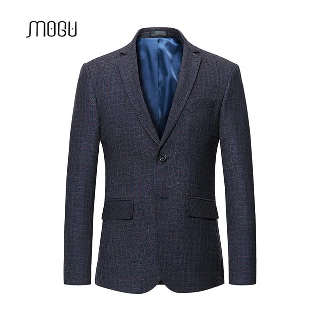 MOGU Custom Fit Casual Blazer 2018 Latest  Plaid Coat Luxury Wedding Party Masculino Single Breasted Large Costume  5XL 6XL