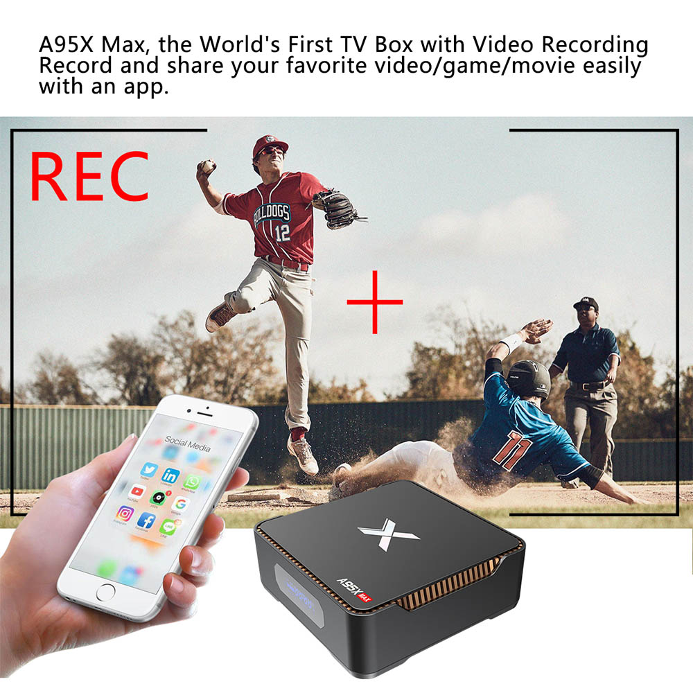 Image 5 - Video Recording Android 8.1 TV Box A95x Max X2 4GB RAM 64GB ROM Amlogic S905X2 QuadCore 2.4G&5GH Wifi Smart 4K Set Top Box OTA-in Set-top Boxes from Consumer Electronics