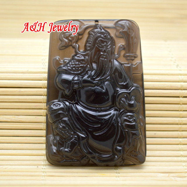 5pcs Chinese Symbol Of Loyalty Guan Gong Carved Pendants Fashion Men