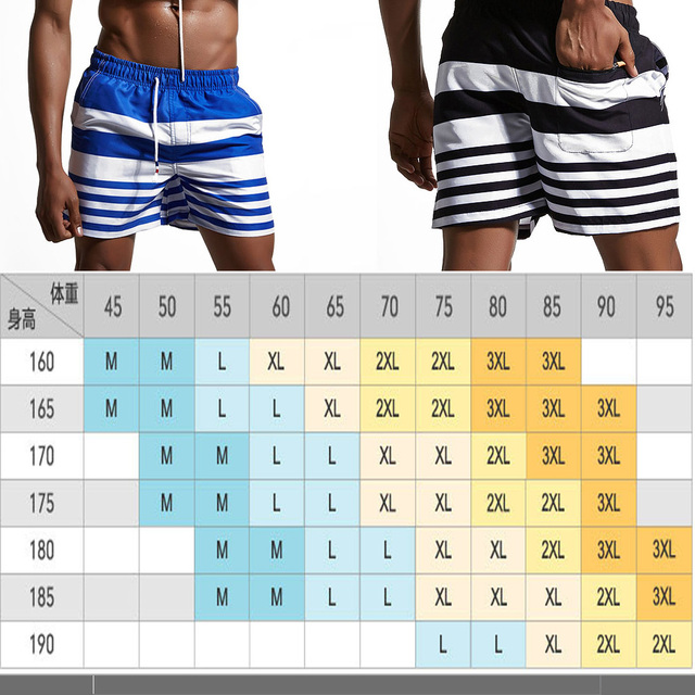 HIBUBBLE Stitching Stripe Men's Swimwear 2018 Beachwear Swimming Trunk Pants Quick-drying Summer Surfing Shorts Swimsuits Briefs