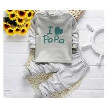 2016 Свободный корабль 0-24 М новая осень зима с длинными рукавами хлопок underwear осенью пижамы дети детская одежда горячие продажи A0012