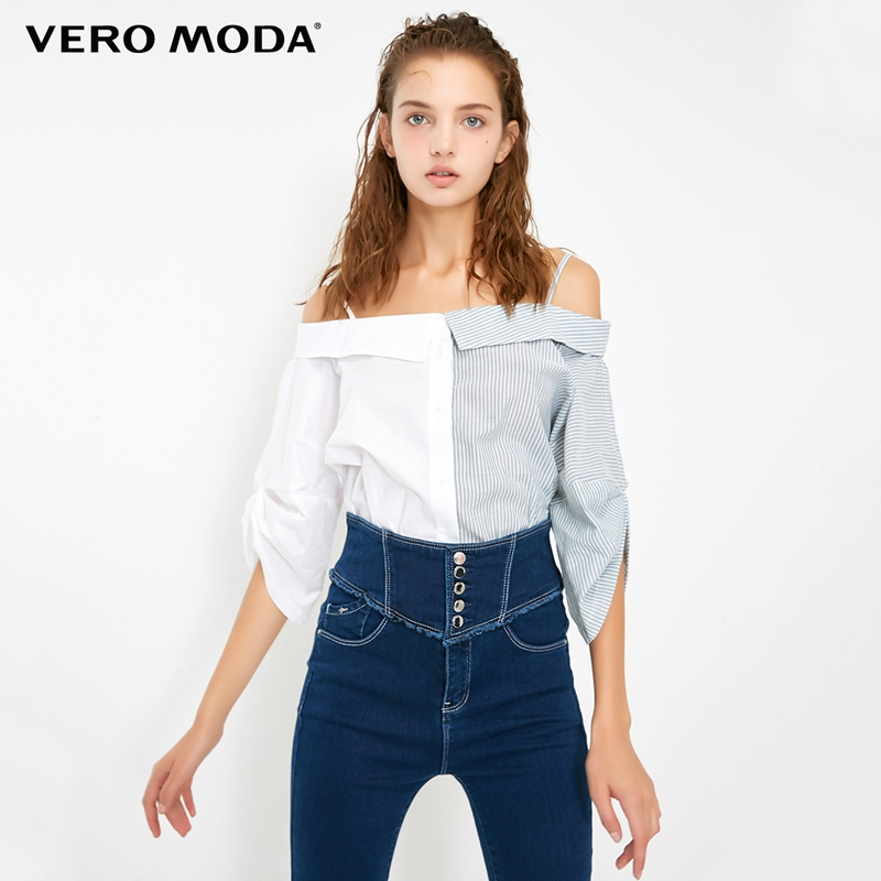 Vero Moda Women's Assorted Colors Shoulder Straps 3/4 Sleeves Shirt Blouse | 318331573