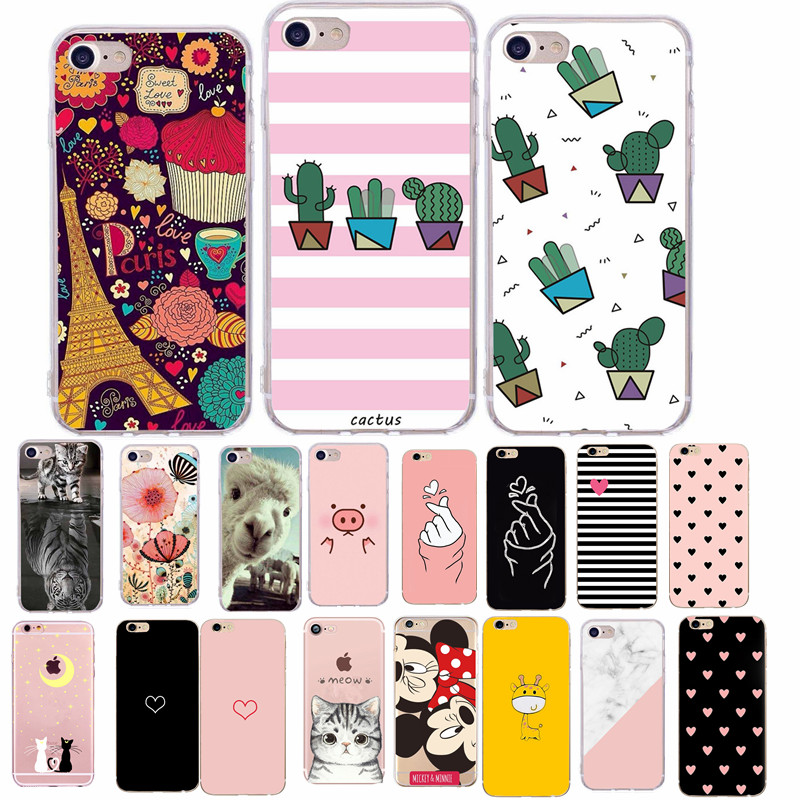 Funny Pig Print Phone Case For iphone X XS 10 Accessories For iphone 6 6S 5 5s 7 8 plus SE Soft TPU Cover Cute Couple Cases