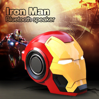 Iron Man Mini Wireless Bluetooth Speaker bass Cartoon Toys Gift Column Portable small Loudspeaker with TF FM for iphone computer