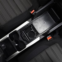Cup Water Frame Storage Case For Honda CRV 2017 Central Console Armrest Cup Water Double Floor Glove Storage Box For CRV 2018