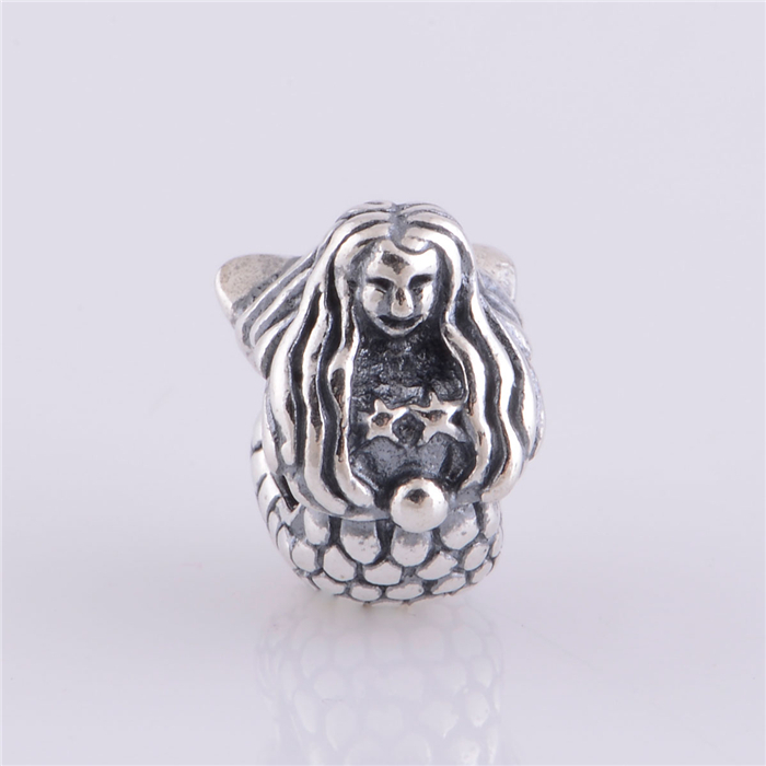 NEW Authentic 925 Sterling Silver Mermaid charm beads Fits Original Pandora Charm Bracelet DIY Jewelry Making LW279(China)