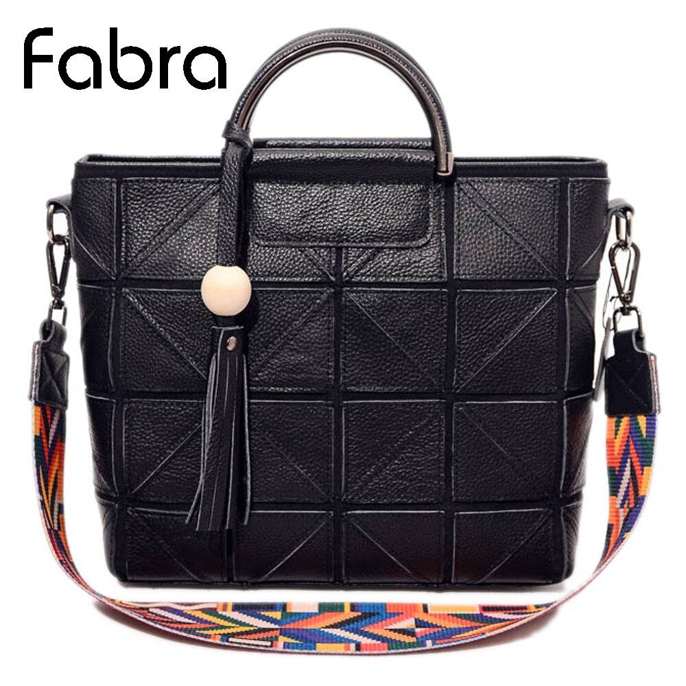 ФОТО Fabra 2017 New Fashion Women Diamond Lattice Bag Tassel Sheepskin Leather Tote Geometry Handbag Business Geometric Shoulder Bag