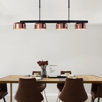 Modern linear line ceiling chandelier light rotatable adjustable bronze gold hanging light lamp for dinning living room foyer