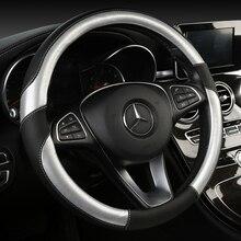 DERMAY osłona na kierownicę do samochodu 38cm modne pokrowce na koła dla kobiet Lady skórzane kierownice akcesoria do wnętrz samochodowych