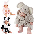 Cartoon Animal Baby Hooded Bathrobe Bath Towel Bath Terry Bathing Robe