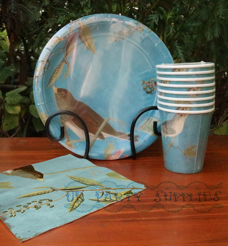 16 Sets Paper Party Pack Blue Paper Plates Bird Design Paper Cups Paper Napkins Wedding Afternoon Tea Party Tableware on Aliexpress.com   Alibaba Group & 16 Sets Paper Party Pack Blue Paper Plates Bird Design Paper Cups ...
