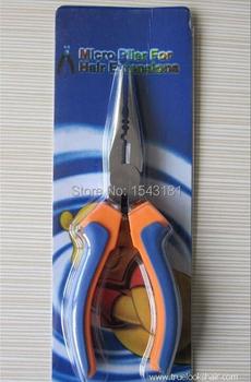 HOT!! Profesjonalne przydatne przedłużanie włosów szczypce żelaza przedłużanie włosów narzędzia do stylizacji fusion przedłużanie włosów zestaw tanie i dobre opinie TFSCLOIN Rustproof electroplating 1pcs Mvp9342130 Pliers 10cm x 8cm x 5cm Blue Orange Handle Feather Hair Extension pliers