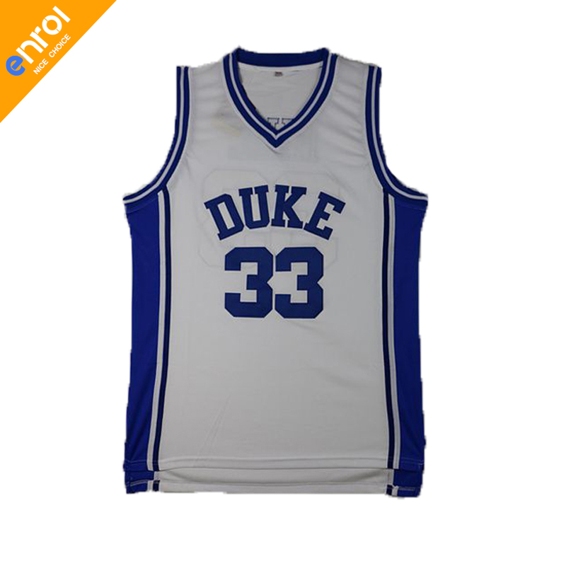 Men Cheap Duke University Grant Hill Basketball Jersey 33# Blue Devils Throwback Stitched Embroidery Retro High Quality Shirts