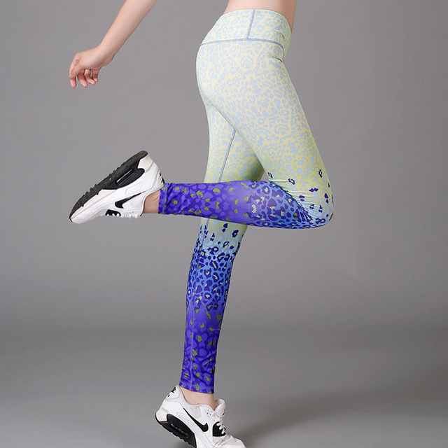 Slim Leggings For Female Women Gym High Waist Clothing Printed Sports Running Pants Yoga Warm Space Girl Workout Sport Fitness