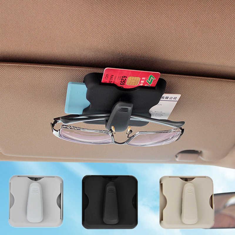 Voiture pare-soleil sac pare-soleil lunettes de soleil Clips boîte organisateur étui rangement rangement sacs porte-carte pince Auto accessoires