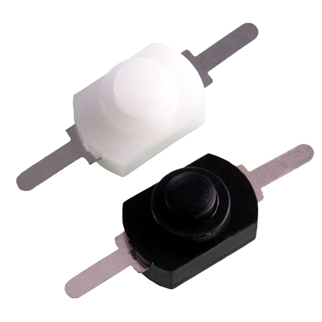 10x 1A 30V DC 250V Black Latching On Off Mini Torch Push Button Switch ONZY