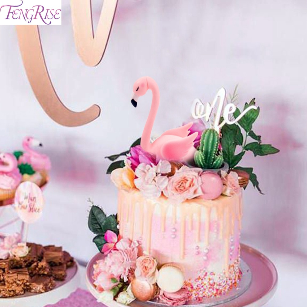 Excellent Fengris Neon Flamingo Cake Topper Baby Shower Kids Favors Flamingo Funny Birthday Cards Online Alyptdamsfinfo