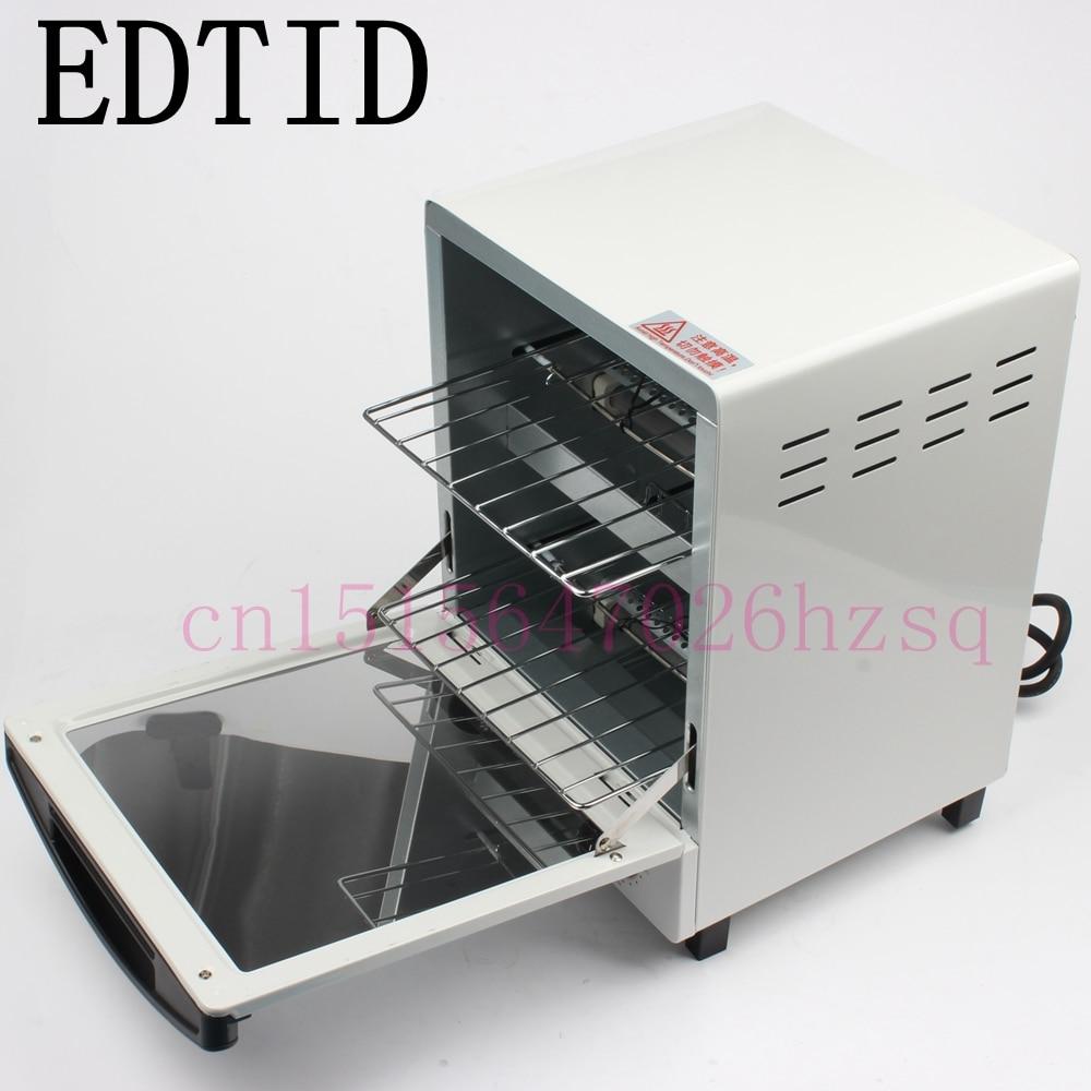EDTID мини вертикальные электрические многофункциональные печи для выпечки 12л емкость 1050 Вт с таймером 30 минут домашняя выпечка