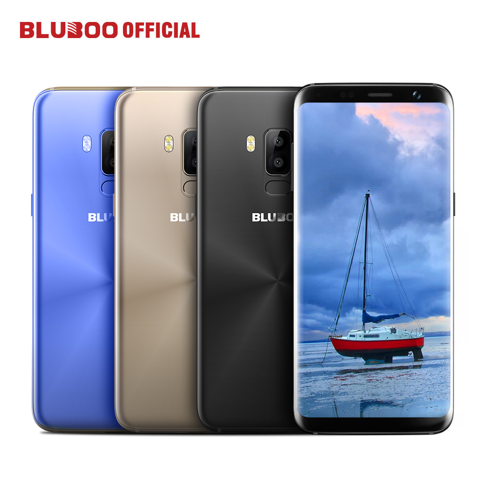 Bluboo S8 5.7'' HD 18:9 Full Display 4G Smartphone MTK6750 Octa Core 3GB RAM 32GB ROM Dual Rear Camera Android 7.0 Mobile Phone