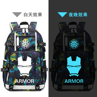 New Avengers 4 schoolbag Printing laptop bag Men Travel bags USB Charging knapsack Iron Man Oxford Backpack