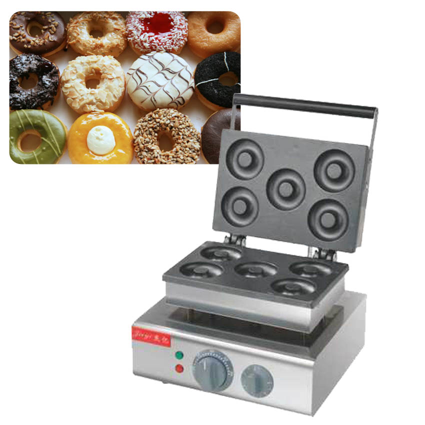 1PC donut maker/ Doughnut maker Small donut making machine stainless steel  donuts producer with 5pcs moulds110V / 220V 1pc donut maker doughnut maker small donut making machine stainless steel donuts producer with 6pcs moulds110v 220v