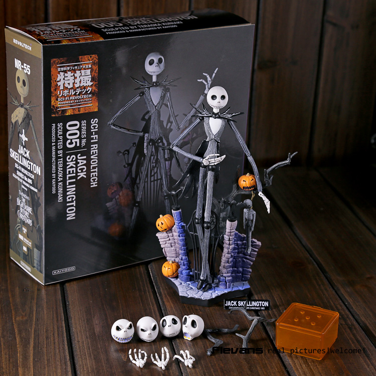 SCI-FI Revoltech Series NO.005 The Nightmare Before Christmas Jack Skellington PVC Action Figure Collectible Model Toy neca planet of the apes gorilla soldier pvc action figure collectible toy 8 20cm