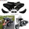 Стеклопластиковые мотоциклы передняя фара внешние оттенки летучая мышь обтекатель ветрового стекла для Harley Softail Road King FLST FLSTF 1986-2012