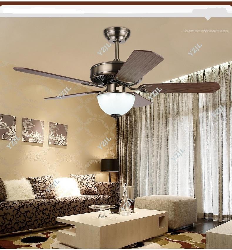 Remote Control Antique Ceiling Fan Lights Led Restaurant